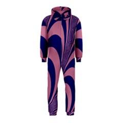 Fractals Vector Background Hooded Jumpsuit (kids)