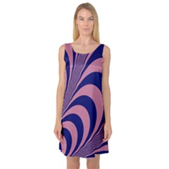 Fractals Vector Background Sleeveless Satin Nightdress