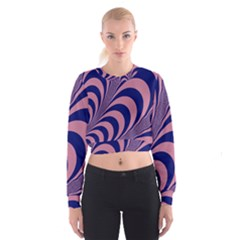 Fractals Vector Background Cropped Sweatshirt