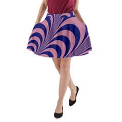 Fractals Vector Background A Line Pocket Skirt