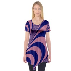 Fractals Vector Background Short Sleeve Tunic
