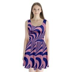 Fractals Vector Background Split Back Mini Dress