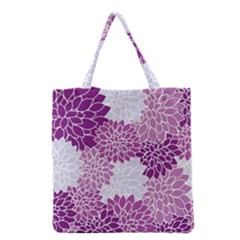Floral Wallpaper Flowers Dahlia Grocery Tote Bag