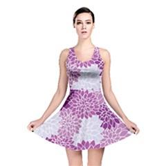Floral Wallpaper Flowers Dahlia Reversible Skater Dress