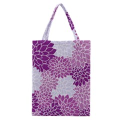 Floral Wallpaper Flowers Dahlia Classic Tote Bag