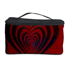 Red Heart Colorful Love Shape Cosmetic Storage Case