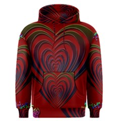 Red Heart Colorful Love Shape Men s Pullover Hoodie