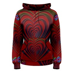 Red Heart Colorful Love Shape Women s Pullover Hoodie