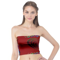 Red Heart Colorful Love Shape Tube Top