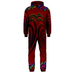 Red Heart Colorful Love Shape Hooded Jumpsuit (Men)