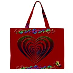 Red Heart Colorful Love Shape Large Tote Bag
