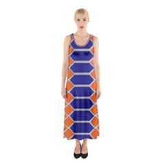 Pattern Design Modern Backdrop Sleeveless Maxi Dress