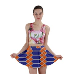 Pattern Design Modern Backdrop Mini Skirt