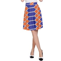 Pattern Design Modern Backdrop A-Line Skirt