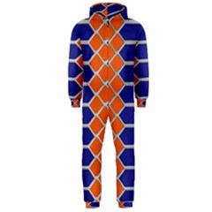 Pattern Design Modern Backdrop Hooded Jumpsuit (men)
