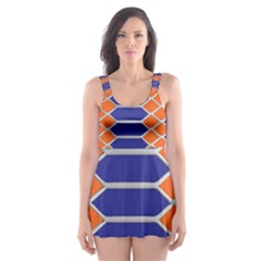 Pattern Design Modern Backdrop Skater Dress Swimsuit