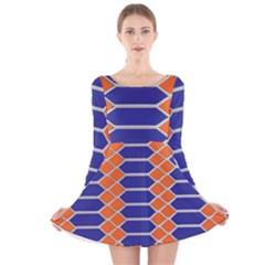 Pattern Design Modern Backdrop Long Sleeve Velvet Skater Dress