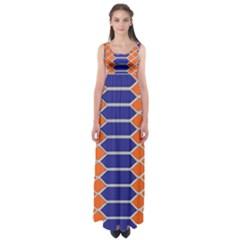 Pattern Design Modern Backdrop Empire Waist Maxi Dress