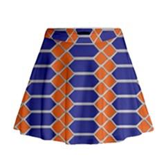 Pattern Design Modern Backdrop Mini Flare Skirt