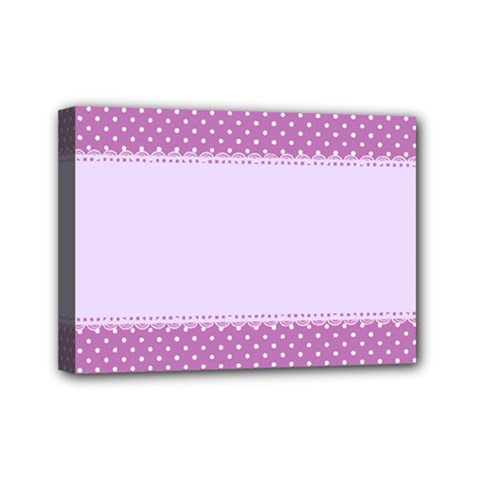 Purple Modern Mini Canvas 7  x 5