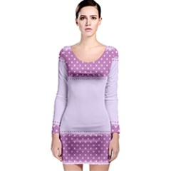 Purple Modern Long Sleeve Bodycon Dress