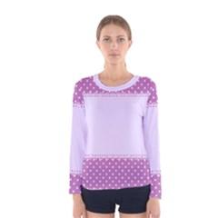 Purple Modern Women s Long Sleeve Tee