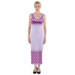 Purple Modern Fitted Maxi Dress