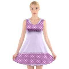 Purple Modern V Neck Sleeveless Skater Dress
