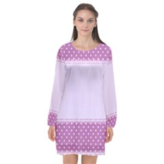 Purple Modern Long Sleeve Chiffon Shift Dress