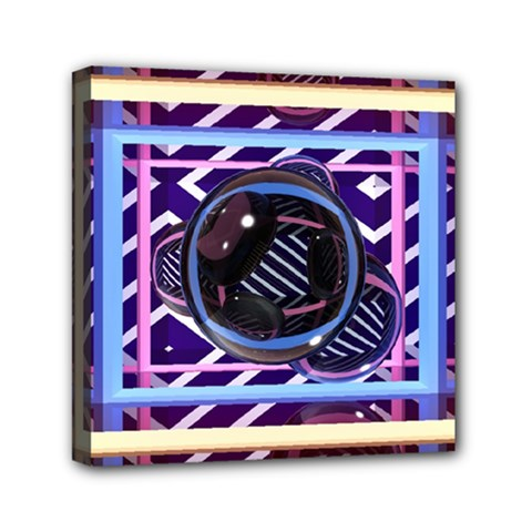Abstract Sphere Room 3d Design Mini Canvas 6  x 6