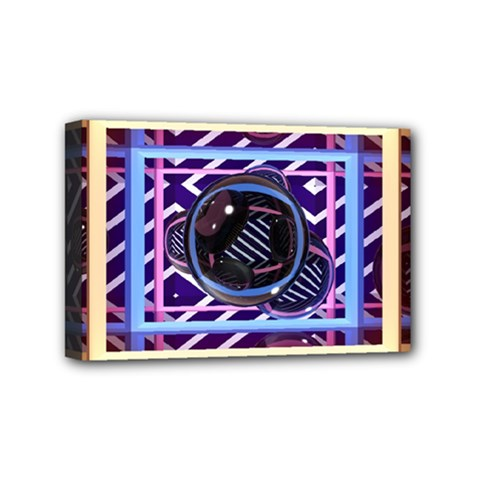 Abstract Sphere Room 3d Design Mini Canvas 6  X 4