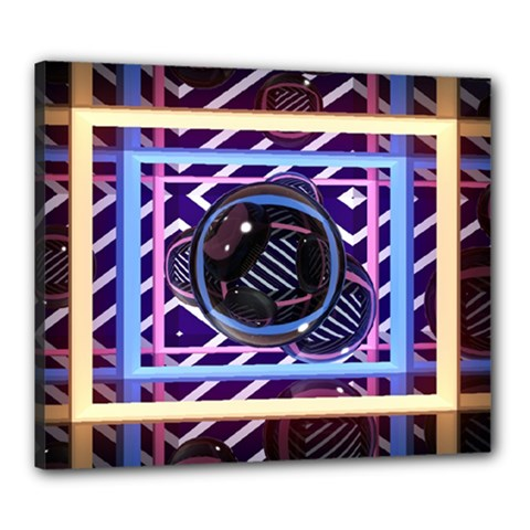 Abstract Sphere Room 3d Design Canvas 24  x 20