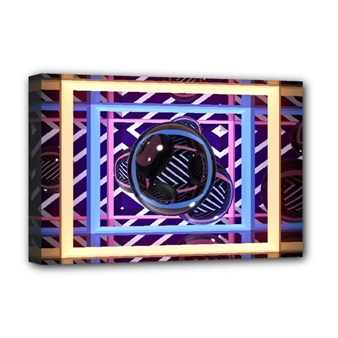 Abstract Sphere Room 3d Design Deluxe Canvas 18  x 12