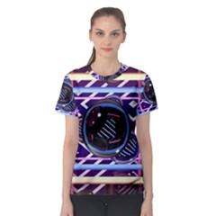 Abstract Sphere Room 3d Design Women s Sport Mesh Tee