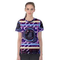 Abstract Sphere Room 3d Design Women s Cotton Tee