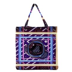 Abstract Sphere Room 3d Design Grocery Tote Bag