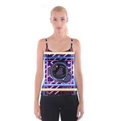 Abstract Sphere Room 3d Design Spaghetti Strap Top