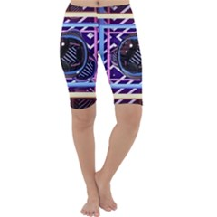 Abstract Sphere Room 3d Design Cropped Leggings