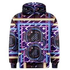 Abstract Sphere Room 3d Design Men s Zipper Hoodie