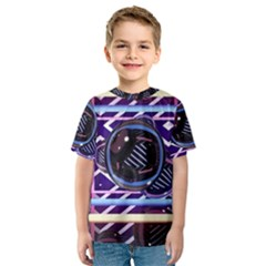 Abstract Sphere Room 3d Design Kids  Sport Mesh Tee