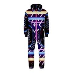 Abstract Sphere Room 3d Design Hooded Jumpsuit (Kids)