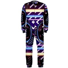 Abstract Sphere Room 3d Design Onepiece Jumpsuit (men)
