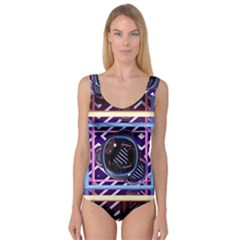 Abstract Sphere Room 3d Design Princess Tank Leotard