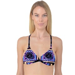 Abstract Sphere Room 3d Design Reversible Tri Bikini Top
