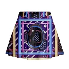 Abstract Sphere Room 3d Design Mini Flare Skirt
