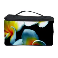 Flowers Black White Bunch Floral Cosmetic Storage Case
