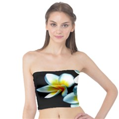 Flowers Black White Bunch Floral Tube Top