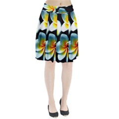Flowers Black White Bunch Floral Pleated Skirt