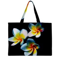 Flowers Black White Bunch Floral Medium Tote Bag