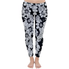 Mandala Calming Coloring Page Classic Winter Leggings